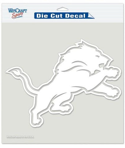 "Detroit Lions Die-Cut Decal - 8""x8"" White"
