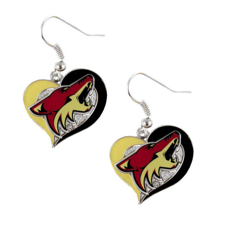 Earrings - Arizona Coyotes Women's Swirl Heart Earrings