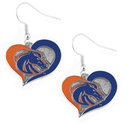 Earrings - Boise State Broncos Women's Swirl Heart Earrings