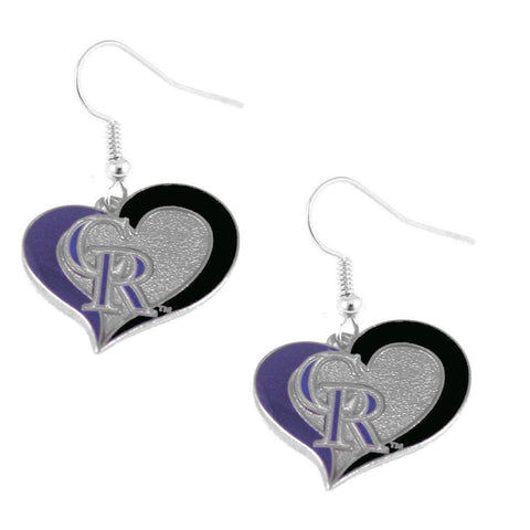 Earrings - Colorado Rockies Women's Swirl Heart Earrings
