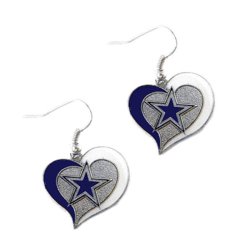Earrings - Dallas Cowboys Women's Swirl Heart Earrings
