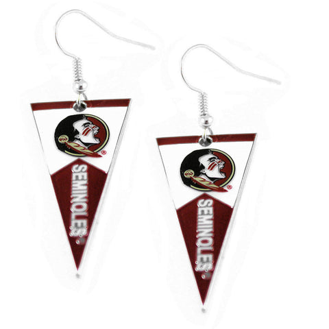 Earrings - Florida State Seminoles Women's Pennant Dangle Earrings
