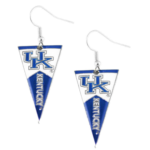 Earrings - Kentucky Wildcats Women's Pennant Dangle Earrings