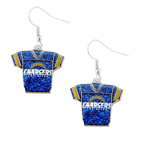 Earrings - San Diego Chargers Women's Glitter Jersey Earrings