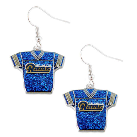 Earrings - St. Louis Rams Women's Glitter Jersey Earrings
