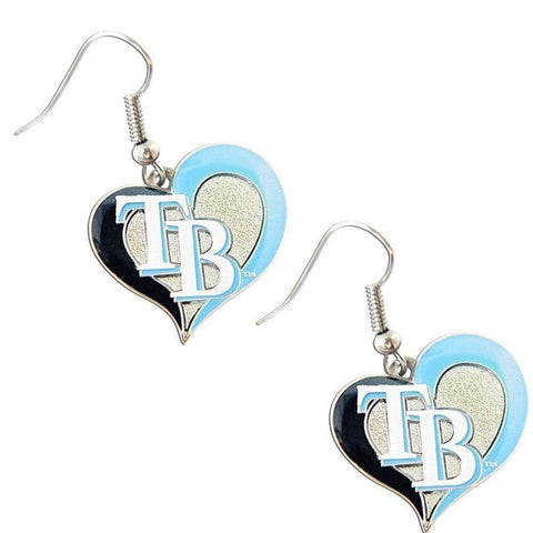Earrings - Tampa Bay Rays Women's Swirl Heart Earrings