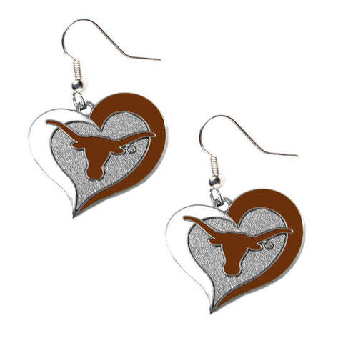 Earrings - Texas Longhorns Women's Swirl Heart Earrings