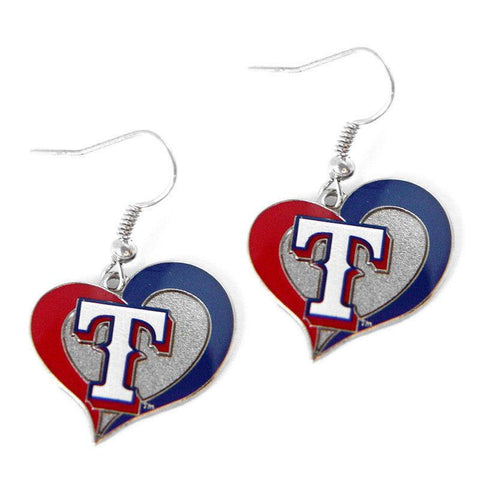 Earrings - Texas Rangers Women's Swirl Heart Earrings
