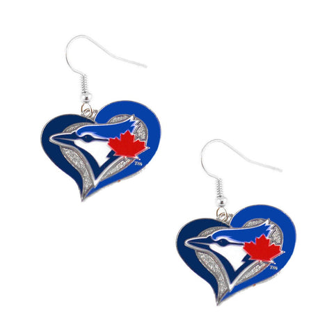 Earrings - Toronto Blue Jays Women's Swirl Heart Earrings