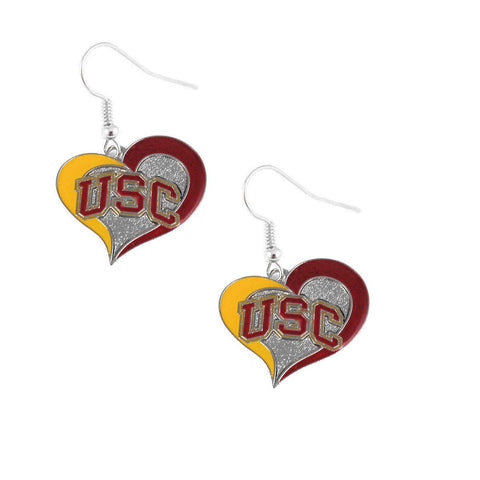 Earrings - USC Trojans Women's Swirl Heart Earrings