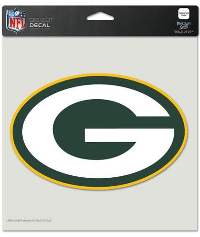 "Green Bay Packers Die-Cut Decal - 8""x8"" Color"