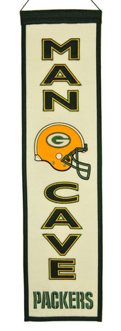 Green Bay Packers Wool Man Cave Banner