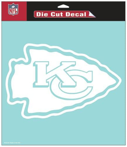 "Kansas City Chiefs Die-Cut Decal - 8""x8"" White"