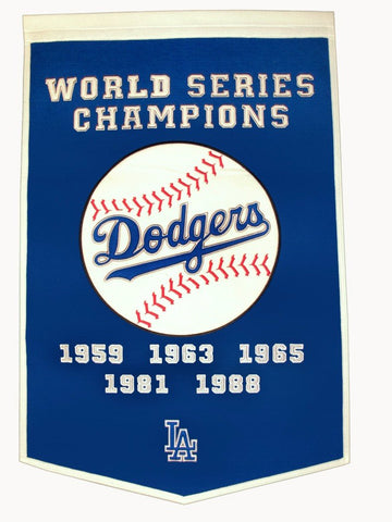 "Los Angeles Dodgers 24""x36"" Wool Dynasty Banner"