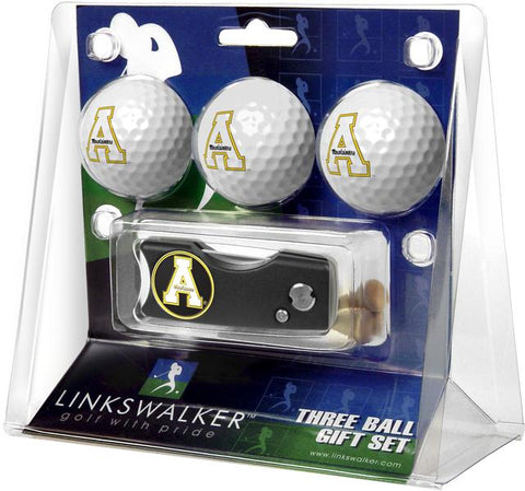 Appalachian State Mountaineers Spring Action Divot Tool 3 Ball Gift Pack