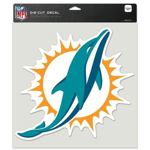 "Miami Dolphins Die-Cut Decal - 8""x8"" Color"