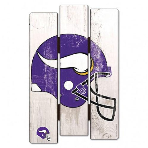 Minnesota Vikings Wood Fence Sign