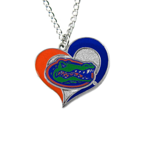 Necklace - Florida Gators Women's Swirl Heart Necklace
