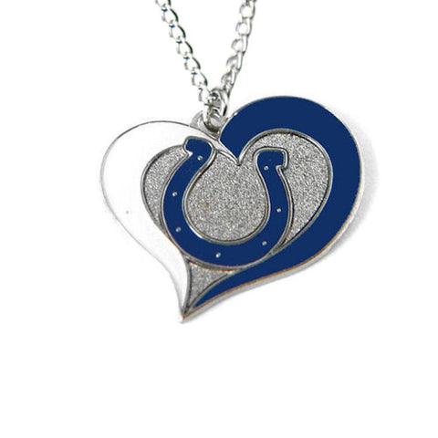 Necklace - Indianapolis Colts Women's Swirl Heart Necklace