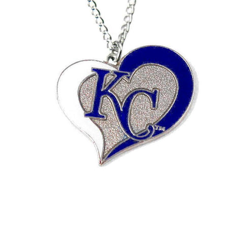 Necklace - Kansas City Royals Women's Swirl Heart Necklace