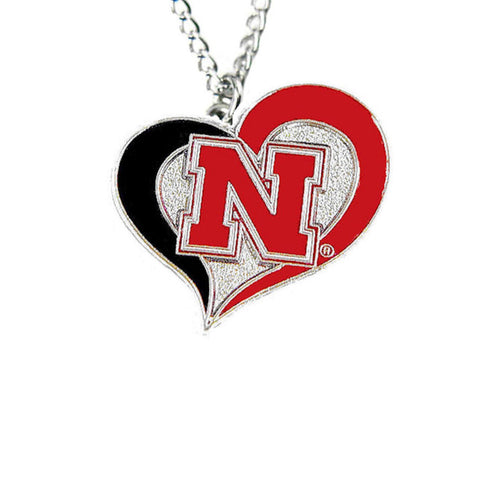 Necklace - Nebraska Cornhuskers Women's Swirl Heart Necklace
