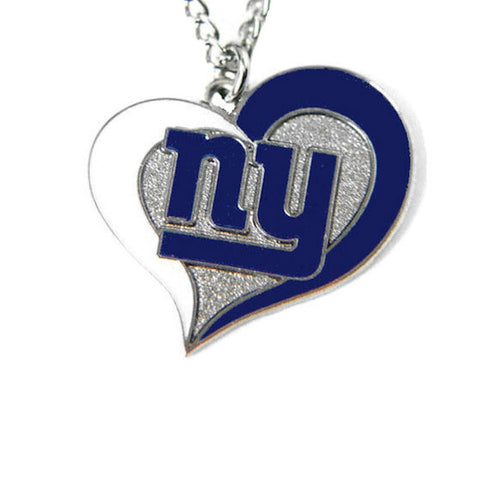 Necklace - New York Giants Women's Swirl Heart Necklace