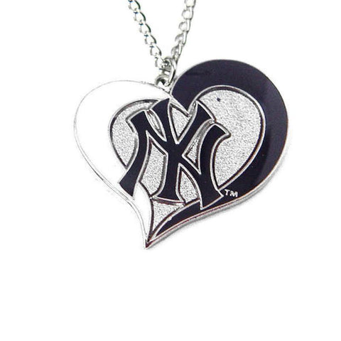 Necklace - New York Yankees Women's Swirl Heart Necklace