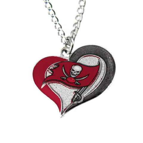 Necklace - Tampa Bay Buccaneers Women's Swirl Heart Necklace