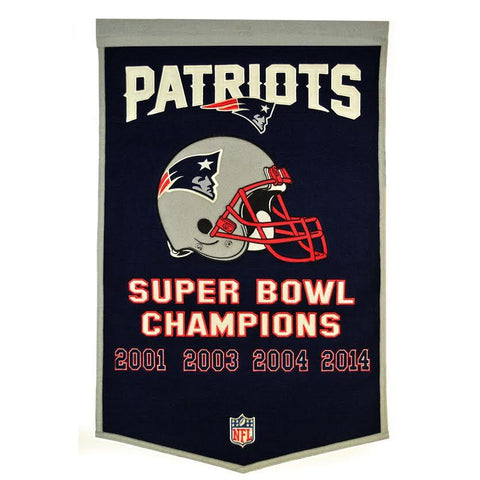 "New England Patriots 24""x36"" Wool Dynasty Banner"