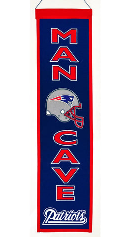 New England Patriots Wool Man Cave Banner