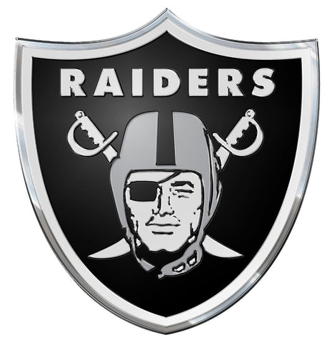 Oakland Raiders Die Cut Color Auto Emblem