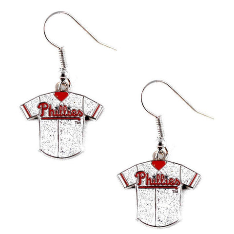 Philadelphia Phillies Women's Glitter Jersey Dangle Earrings
