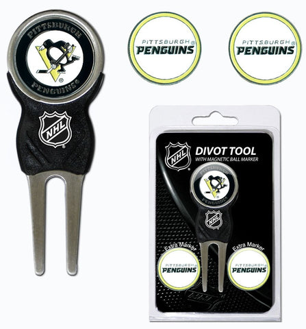 Pittsburgh Penguins Golf Divot Tool With 3 Markers