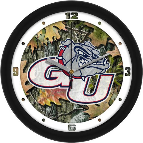 Gonzaga Bulldogs Camo Wall Clock