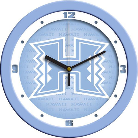 Hawaii Warriors Baby Blue Wall Clock