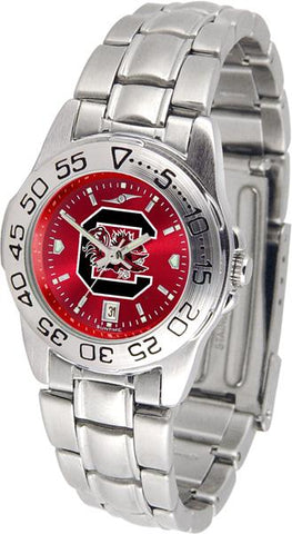 South Carolina Gamecocks Ladies' Sport Steel AnoChrome Watch