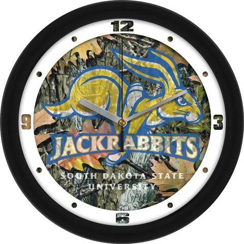 South Dakota State Jackrabbits Camo Wall Clock