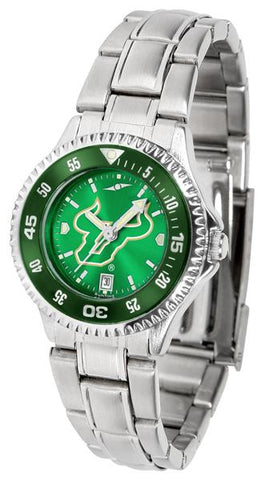 South Florida Bulls Competitor Ladies' Steel AnoChrom Watch