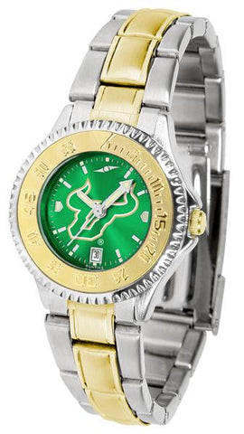 South Florida Bulls Competitor Ladies Two-Tone AnoChrome Watch
