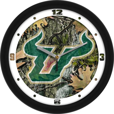 South Florida Bulls Camo Wall Clock