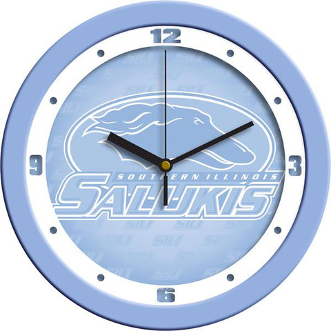 Southern Illinois Salukis Baby Blue Wall Clock