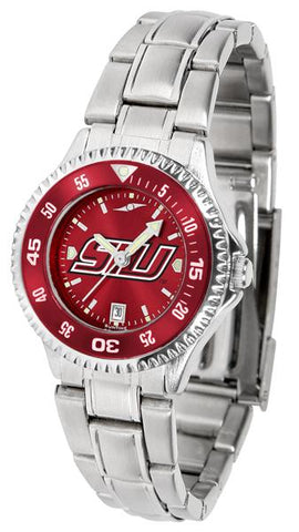 Southern Illinois Salukis Competitor Ladies' Steel AnoChrom Watch