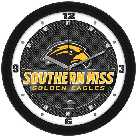 Southern Mississippi Eagles Carbon Fiber Textured Wall Clock