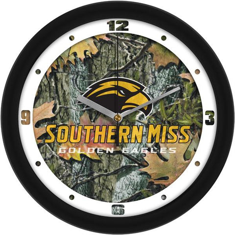 Southern Mississippi Eagles Camo Wall Clock