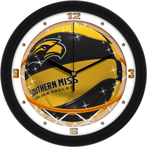 Southern Mississippi Eagles Slam Dunk Wall Clock