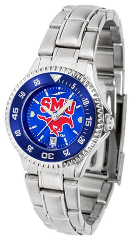 Southern Methodist University Mustangs Competitor Ladies' Steel AnoChrom Watch