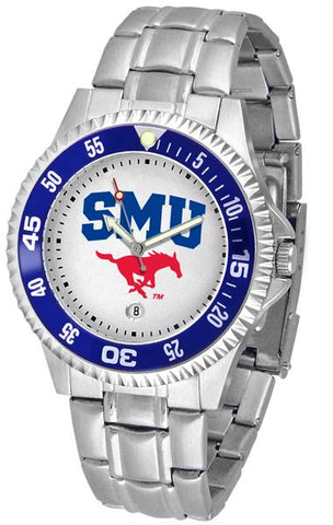 Southern Methodist University Mustangs Competitor Steel Watch