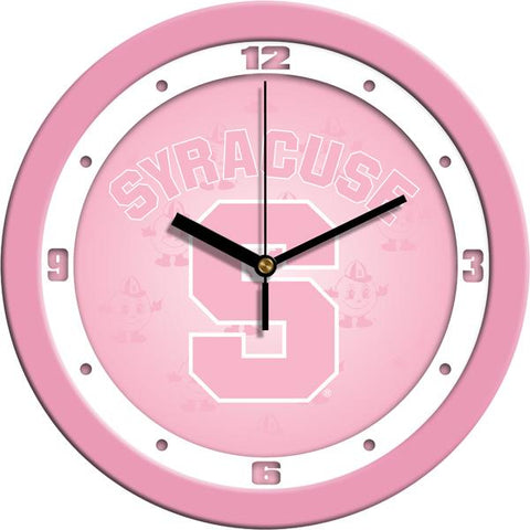 Syracuse Orange Pink Wall Clock