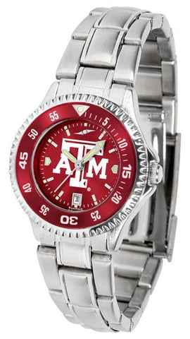 Texas A&M Aggies Competitor Ladies' Steel AnoChrom Watch