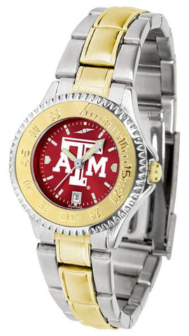 Texas A&M Aggies Competitor Ladies Two-Tone AnoChrome Watch